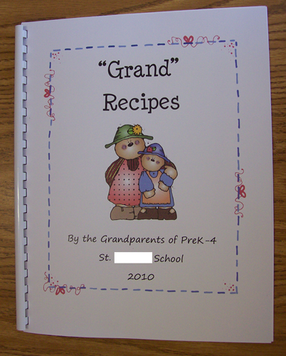 Another gift for grandparents is the u201cGrand Recipesu201d book.