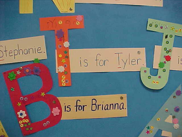 Initial Letter Of Name Activity And Bulletin Board Prek K on Sign Language Self Portraits