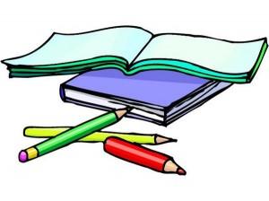 books pencils